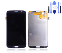 Cheap Wholesale-For samsung galaxy mega 6.3 i9200 lcd display touch screen digitizer assembly I9205 LCD black and white free shipping +tool