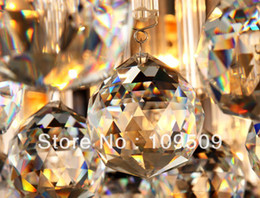 Wholesale mm Champagne Feng Shui Crystal Sphere Prism Rainbow Chi Ball Healing Sun Catcher
