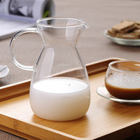 glass milk bottle - Hot Sale Office Drink Kettle Juice Milk Breakfast Bottle Pot Cute Duck Shaped Glass Lead Free Cup Measuring Jug Mug ML