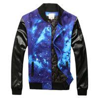 baseball uniform designer - Fall Fashion Leather Coat Men Star Baseball Uniform PU Jackets For Men New Designer Brand Sport Jacket Men Sportswear Clothes