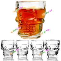 Wholesale set Doomed Crystal Head Vodka Shot Glass Cup Vodka Whiskey Drinkware Skull Cup Wine Glass for Home amp Bar