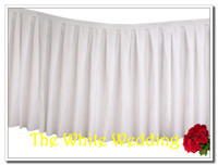 Wholesale polyester ft width m height wedding table skirt for weddings amp banquet table skirting table skirts