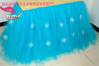 add snow - customized handmade sky blue tablecloth add snow flower cm height table cover for wedding party festival holiday