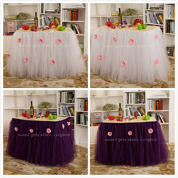 Wholesale Chinese handmade color optional banquet tablecloth add big flower cm height table cover for wedding party festival holiday