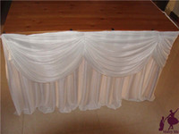Wholesale ft x Ice Silk Solid square Table Skirt Wedding Table Skirt