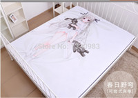 animated fabric - Anime Bed Sheet Fabric Poster Animate fate sky yosuga no sora kasugano sora Size cmx150cm
