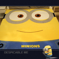 air condition fittings - minion mattress bed Air condition coral carpet child cartoon Coral Sheets minion bedding Soft and comfortable