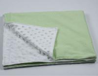 Wholesale baby minky blanket Monogram Embroidered Baby Seersucker Mink Blanket