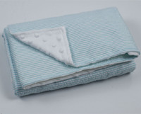 aqua dots - hot sale baby minky blanket Baby Seersucker plain Mink dot Blanket free sheet shipping