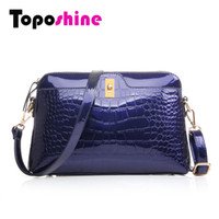 addresses business - Business Address Crocodile Alligator Pattern Turn Lock Leather Bag Women Handbag Shoulder Borsello Tragbare Tasche Messenger Bag