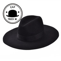Wholesale new Vintage Autumn Winter Wool Women s Men Fedora hats Floppy Trilby felted hat Ladies cowboy cap