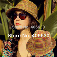 paypal free shipping - summer straw fedora hats for women chapeau girls sun beach hats panama children beach hats accept paypal