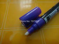 Wholesale mm Purple Dual Nib Liquid Chalk Marker Pen Chalkboard Blackboard Crafts