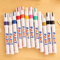 Wholesale pc Colors Tyre Permanent Paint Pen Tire Metal Outdoor Marking Ink Marker Waterproof Oil Pen