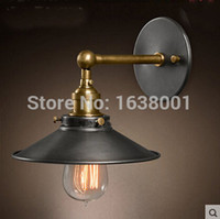Cheap Wholesale-Rustic Retro Creative Personality Industry Wall Lamp Living Room Bedroom Bedside Decorated Staircase Cafe Lamp Lighting