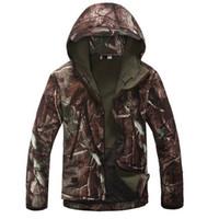 Wholesale Mens TAD Sharkskin Softshell Realtree Bionic Camo Tactical Jackets Waterproof Warm Fleece Hunting Outerwear Coat Clothing S XXXL