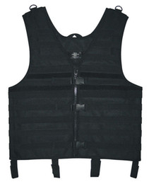 Wholesale New Hunting Paintball Airsoft Hiking Black Molle Web Tactical Vest