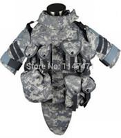 acu body armor - New ACU OTV Camo Interceptor Tactical Vest Colete Airsoft Tactical Molle Body Armor Combat Plates Vest Multicam Military Uniform