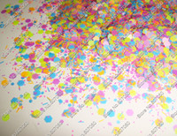 acrylic glitter mix - g x Matte Neon Mixed Colors Solvent Resistant Glitter Hexagon Strip Spangles Shapes for Nail Polish amp Gel Acrylic Nail