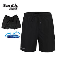Wholesale Santic Men s Loose Fit Casual Cycling Shorts W Inner Padded Coolmax Underwear Bike Bicycle Bottoms Pantalones Cortos Ciclista