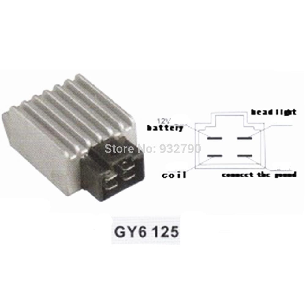 Wholesale-12V 4 Pin Plug Voltage Regulator Rectifier 50cc ...