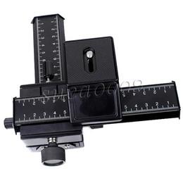 Descuento dslr deslizador Macro mayor-profesional que se centra carril deslizante 4-way D-SLR DC para Nikon SLR DSLR Canon Petax DC