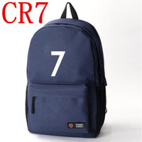 best book bags - CR7 backpack Football bag canvas training bag school bags book bags boy schoolbags fans backpack Best shooter Football souvenirs