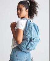 achat en gros de sac à dos de l'école américaine de fille-Gros-femmes millésime Denim Sac à dos American Apparel sac d'école pour boygirls Mochila design féminin sacs de haute qualité