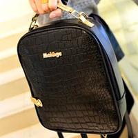 assured computer bags - High Quality Assured Brand Women and Men s Backpack computer bag mortise lock crocodile grain shoulder bag discount