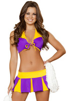 baby jersey dress - World Cup Cheer baby cheerleader emale pole dance Club DS suit sexy costumes dance vikings jersey s fancy dress