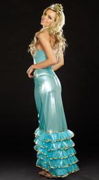 Wholesale Marca al por mayor de alta calidad nueva Mar trajes vestido de la reina del traje atractivo de Halloween S1340 traje atractivo de la sirena del envío libre