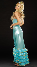 Wholesale high quality brand new Sea Queen Costume S1340 Sexy halloween costumes dress sexy mermaid costume