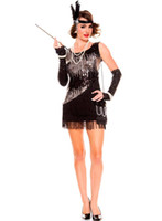adult masquerade costumes - Tassel Sequin Sexy Uniform sexy masquerade costume Hot Sale Sequin Flapper Costume S1517 Halloween costumes adult