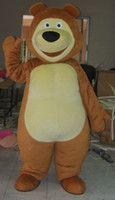 Wholesale Professional brown bear mascot Fancy Dress Costume Adult Size EPE Suit mascot costume with small fan