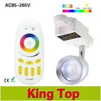 Wholesale Mi Light Smart led Track Light Lamp RGBW RGBWW AC85 V Track lighting Power W Dimmable Spot light Touch Remote Controller