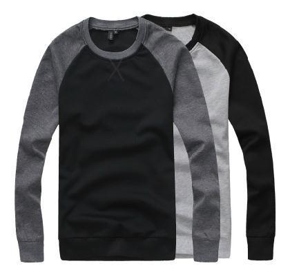 Wholesale-2015 autumn and winter Selling han edition cultivate one's morality Men who clothes Raglan sleeve contrast color
