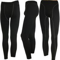 Wholesale New New Mens Compression Base Layer Pencil Long Pants Tights Sport Sizes Colors Freeeshipping