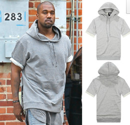 Wholesale Kanye West pullover half sleeve sweatshirt apc kanyewest hoodie Kanye West for A P C short sleeve hooded sweatshirt Hoody
