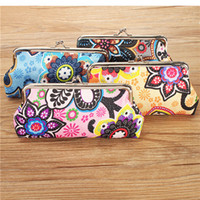 Wholesale Womens Coin Purse Linen Bag Floral Wallet Hasp Pocket Credit Card Case Phone Pouch Bags Europe American Style