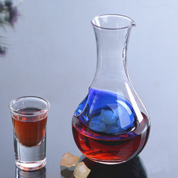 Wholesale ml Unique Crystal Glass Wine Decanter Wine Aerator Container Wine Jug Keep Fresh Wine Carafe Cocktail Champagne Cooling Tools