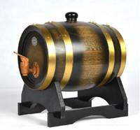 Wholesale L Oak Barrel Decortaion Barrel Homebrew Hotel Wedding Art crafts Bar Display Restaurant Keg Wine Article