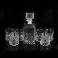 bar table designs - Square Diamond Design Classic Elegant Wine Decanter Whisky Bottle With Cups Liquor Jug Aeration Taste Bar Table Decor ml