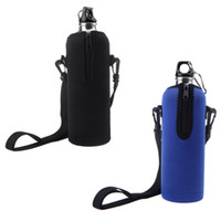 beer carriers - Water Milk Beer Bottle Insulated Cover Carrier Bag Zipper Neoprene Pouch Straps