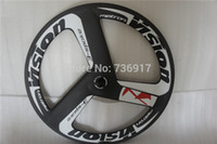 Wholesale stiff carbon spoke wheel c ruedas carbono made in china bicycle trispoke wheel for road and track