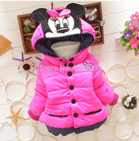 Wholesale High quality Children s Coat New Design Girls Minnie Coats Winter Warm Jacket Outerwear for Kids Clothes