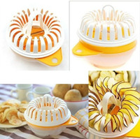 baking white potatoes - DIY home microwave oven baked potato chips maker machine microwave oven grill basket fat