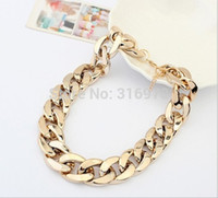 chunky necklaces - Color New Fashion Vintage Chunky Chain K Gold Silver Plated punk statement Necklace For Women Necklaces Pendants
