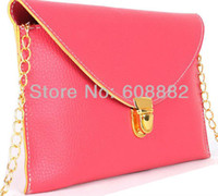 Wholesale promotion cheap envelope lady clutches bags leather shoulder bags woman bags for woman