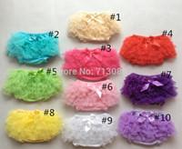 Wholesale Baby girl tutu bloomers Chiffon Ruffle Diaper Cover