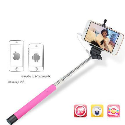 online cheap wholesale wired self selfie stick mobile phone camera self selfie stick tripod. Black Bedroom Furniture Sets. Home Design Ideas